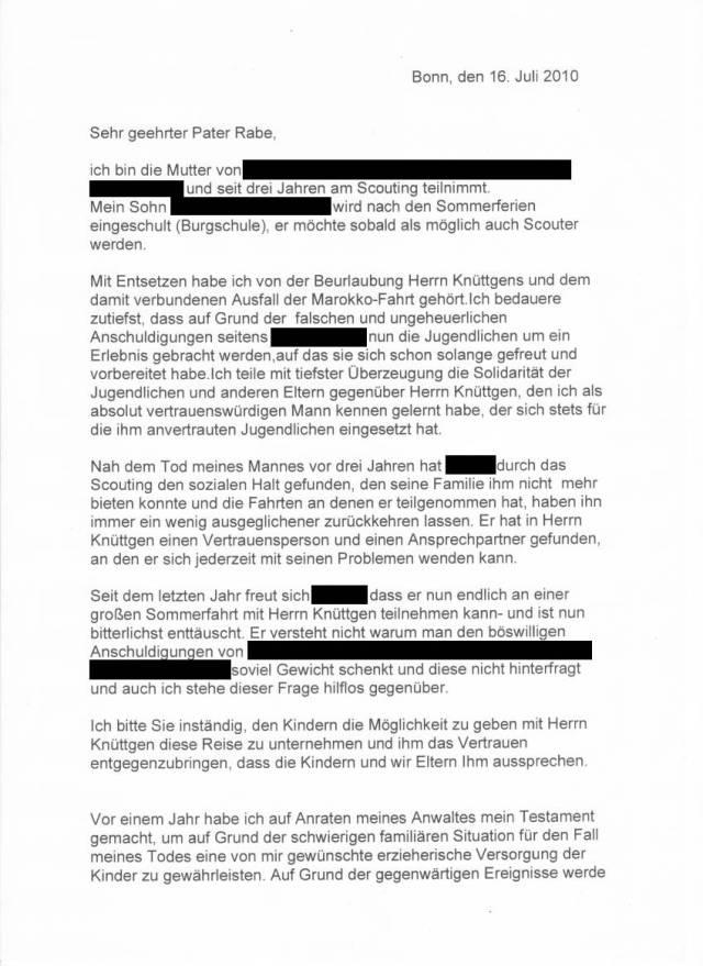 Brief Rabe Seite 1