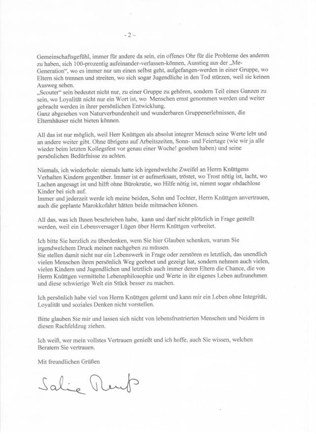 Brief Rentrop Rabe Seite 2